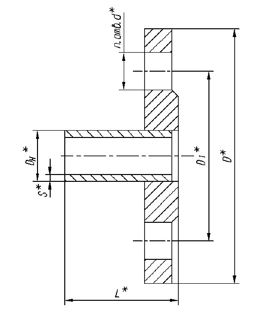 Фланец плоский ОСТ 34-10-756-92